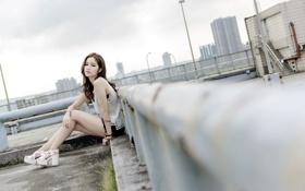 Картинка взгляд, девушка, поза, азиатка