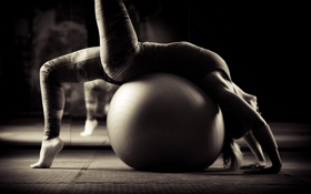 Картинка ball, training, pilates, elongation