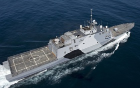 Обои оружие, корабль, The littoral combat ship USS Freedom