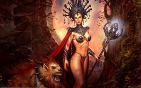 Картинка девушка, лев, принцесса, Goth Princess, JP Targete
