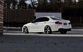 Картинка BMW, white, F10, WHEELS, 5 Series, Vossen