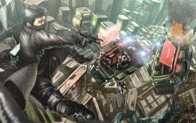 Обои погоня, солдаты, агент, Syndicate, Miles Kilo