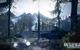 Картинка лес, горы, танки, Battlefield 3, premium, armored kill