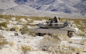 Обои поле, оружие, танк