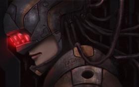 Обои art, cyborg, шлем
