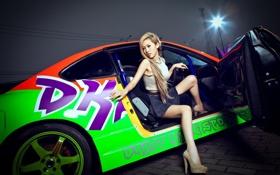 Картинка девушка, S15, Silvia, Nissan, азиатка