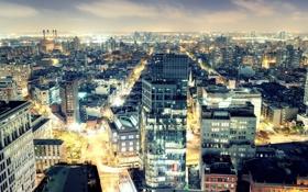 Картинка Night, New York City, usa, nyc, East Village