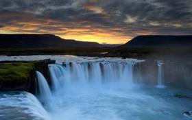 Обои Исландия, Водопад Деттифосс, мощный, Европа, самый
