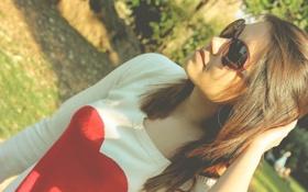 Картинка девушка, модель, очки, симпатичная