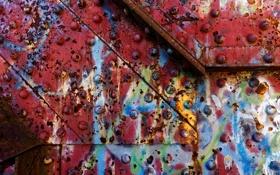Обои краска, стена, ржавчина
