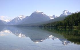 Картинка вода, деревья, горы, природа, фото, пейзажи, леса
