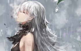 Картинка Девушка, капля, дождь, пар