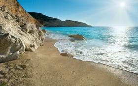 Обои Greece, sand, море, песок, sea, пляж, beach
