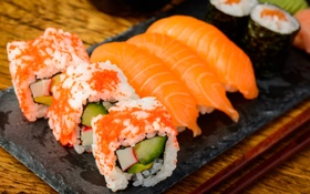 Картинка rolls, sushi, суши, роллы, японская кухня, Japanese cuisine