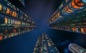 Картинка небо, ночь, город, дома, Республике Корея, Пусан