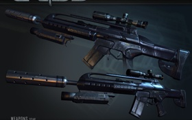 Обои снайпер, автомат, crysis, кризис, винтовка, оружие