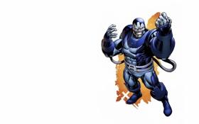 Обои люди икс, Marvel Comics, X-Men, белый фон, Apocalypse, Апокалипсис