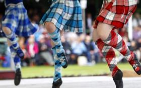 Обои Шотландия, юбка, танец, хайланд