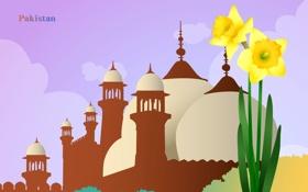 Картинка Пакистан, купол, путешествия, государство, Pakistan, туризм, мечеть