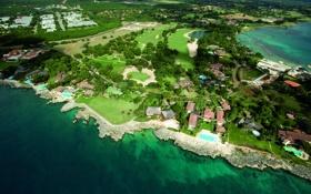 Обои houses, luxury, golf courses