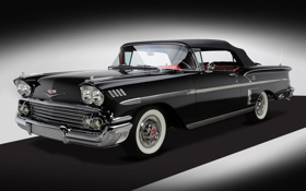 Обои Chevrolet, Шевроле, Bel Air, Impala, Convertible, 1958, 348