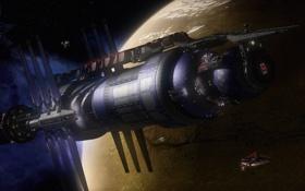 Картинка станция, Babylon-5, the lost tales, планета Эпсилон-3