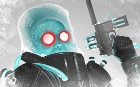 Обои пистолет, DC Comics, Mr. Freeze, villain