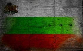 Обои флаг, герб, болгария