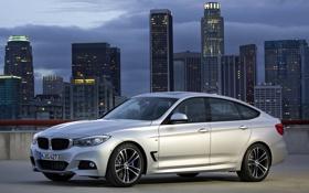 Обои небо, город, BMW, автомобиль, 335i, Gran Turismo, M Sports Package