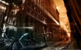 Картинка улица, апокалипсис, разрушения