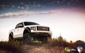 Картинка белый, небо, облака, джип, ford, EVS Fuel FX4 11