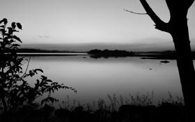 Обои пейзаж, река, горизонт, небо, фото, обои, берег