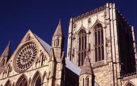 Обои Англия, собор, Великобритания, графство, Йорк, Северный Йоркшир, готический