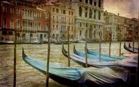 Картинка city, город, Италия, Венеция, канал, vintage, Italy