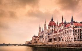 Картинка мост, город, архитектура, парламент, Венгрия, Будапешт, Budapest