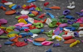 Обои тратуар, цвета, шары