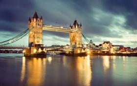Обои ночь, англия, лондон, london, night, england, Thames River