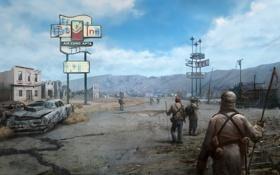Обои игра, Fallout, пустошь