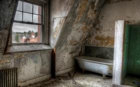 Картинка окно, ванна, комната