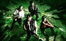 Обои зомби, окружены, Left 4 Dead, игра