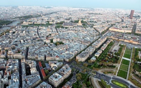 Картинка город, фото, Франция, Париж, сверху, мегаполис