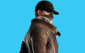 Обои повязка, кепка, свитер, Watch Dogs, плащ, Ubisoft Montreal, взгляд