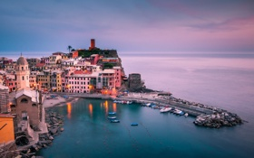 Обои Italy, Vernazza, Liguria