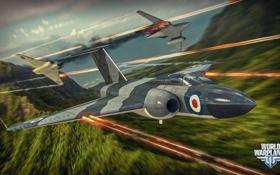 Обои самолет, бой, выстрелы, aviation, авиа, MMO, Wargaming.net