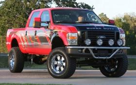 Обои красный, Ford, red, форд, пикап, Super, Duty