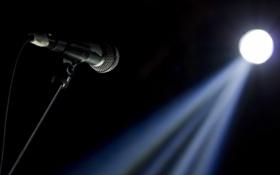 Обои макро, свет, микрофон