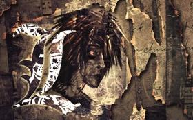 Картинка текст, надписи, портрет, газеты, тетрадь смерти, Death note, записки