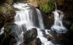 Обои природа, камни, фото, водопад
