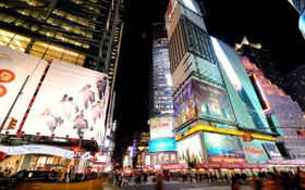 Картинка ночь, улица, нью-йорк, night, New York, nyc