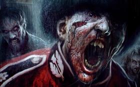Картинка zombie, blood, dead, background, people, survivor, ubisoft